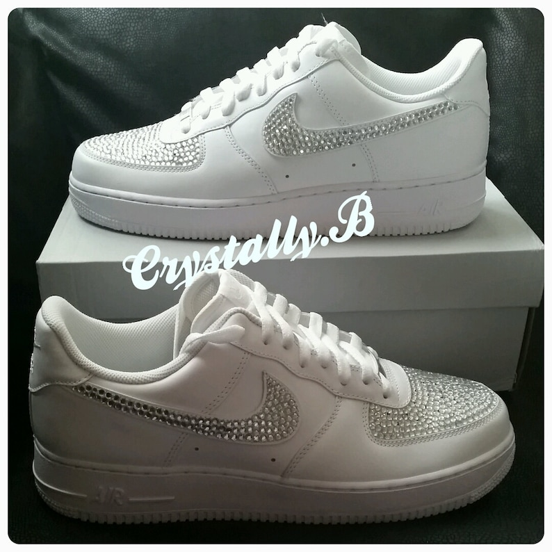 brand new aede1 7be97 Rhinestone Air Swaroskiamp; Force Customised Nike Bling OnesEtsy wXZuTOkilP