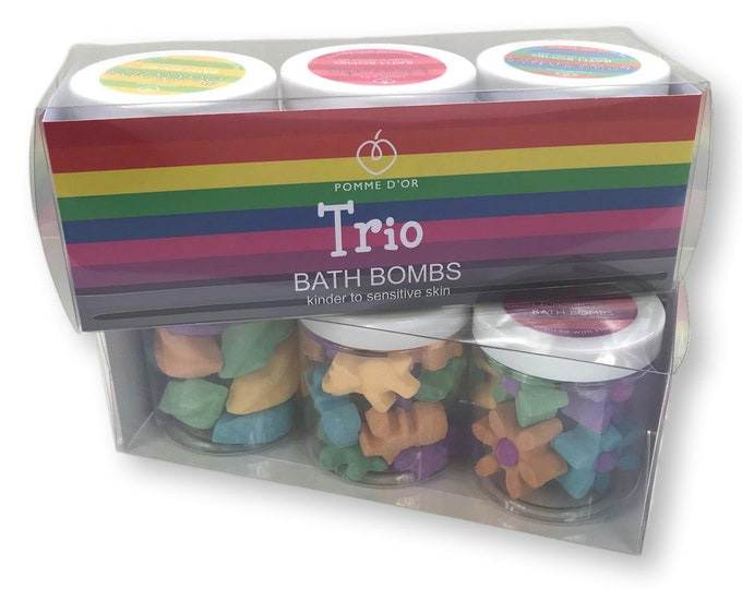 Set of 3 Mini Bath Bomb tubs - kinder to sensitive skin