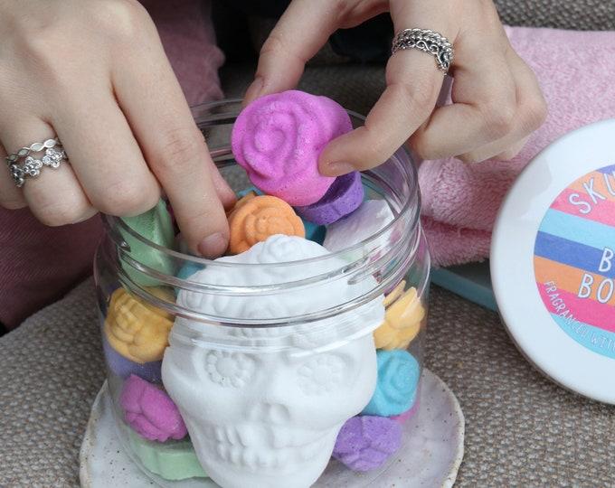 Skully Rose Bath Bombs - kinder to sensitive skin