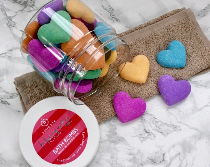 Heart Bath Bombs - kinder to sensitive skin