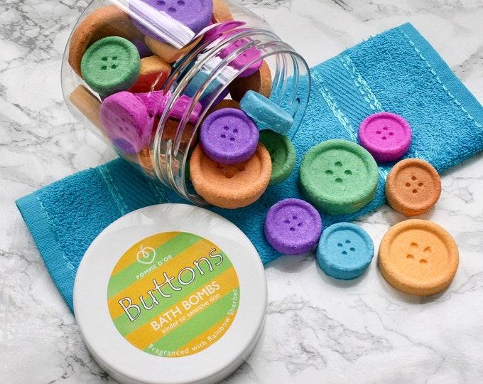 Button Bath Bombs - kinder to sensitive skin