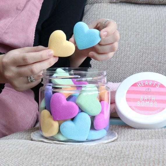 Heart Bath Bombs - kind to sensitive skin