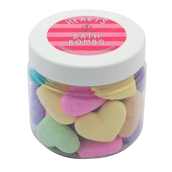 Heart Bath Bombs - kind to sensitive skin