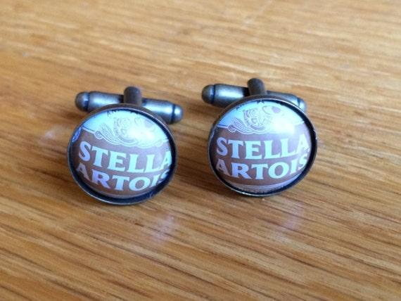 R Stella Artois Bottle Cap Cufflinks