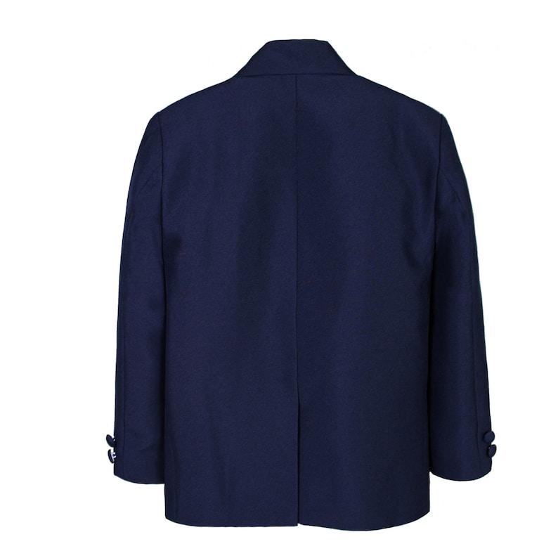 Navy Blue Jacket ONLY one Piece Blazer for Baby Toddler Boys Formal Baptism Wedding Ring Bearer