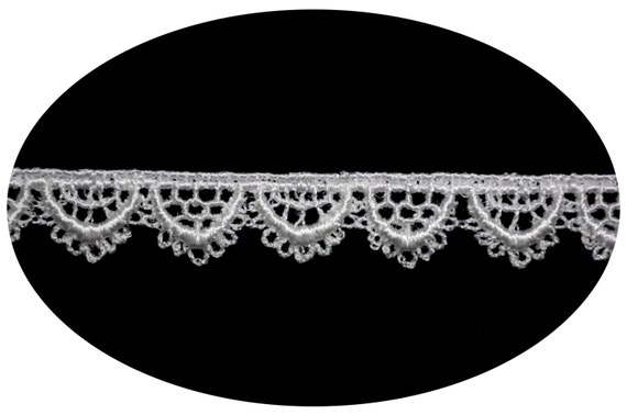 "5/"" White /& Ivory Venice Lace Trim DIY sewing notions By Yard"