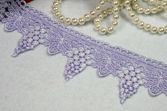 """2.5/"""" Green Blue Black Lilac Pink Navy Gray Maroon Gold Venice Guipure Lace"""