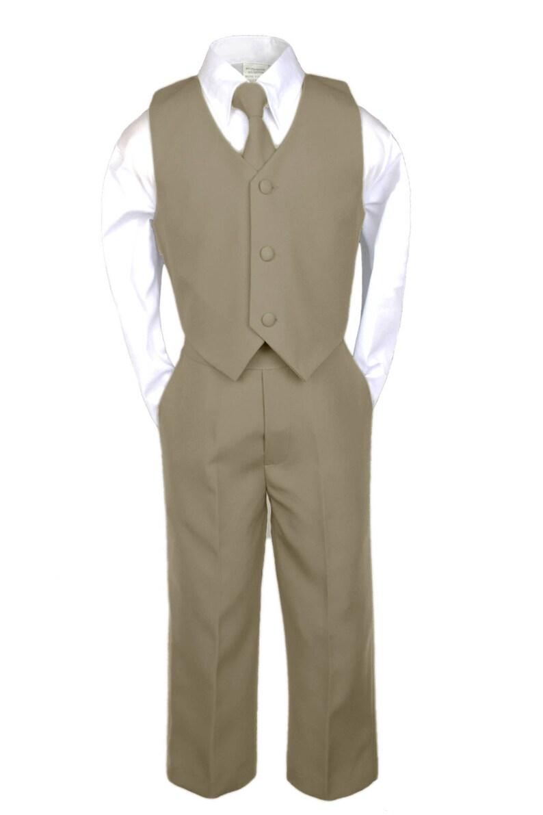 New Baby Toddler Boys WHITE Jacket BLACK Pants Suit Recital Baptism Wedding Ring Bearer BY013 Dark Gray