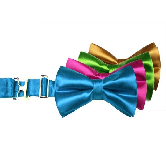 Boys Pacific Blue Clip On Cotton Bow Tie Bowtie amy2004marie