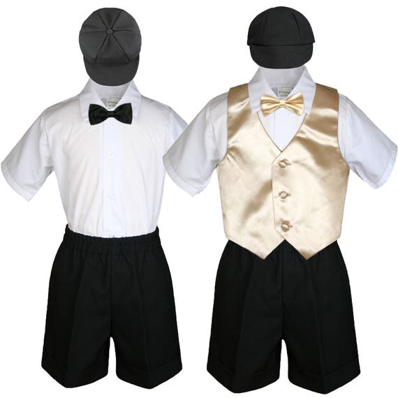 Infant Toddler Boys Christening Baptism Formal Vest Suit Outfits 0-24M 2T 3T 4T