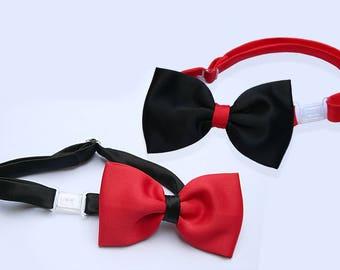 Red or Black Handmade Clip-on Formal Satin Bow Tie Boy Baby Toddler Kid Teen Youth Wedding Graduation Party Newborn-20 503
