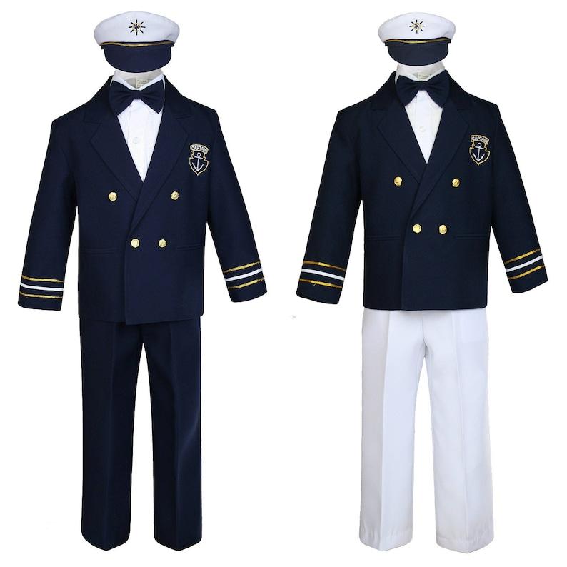 29a2ece36470 New Baby Toddler Boys NAVY BLUE Nautical Sailor Cruise Captain