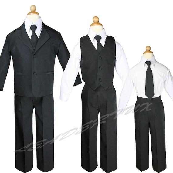 Size Small  to 14 Boys Baptism Recital Tuxedo  White Suit Set Ring Bearer