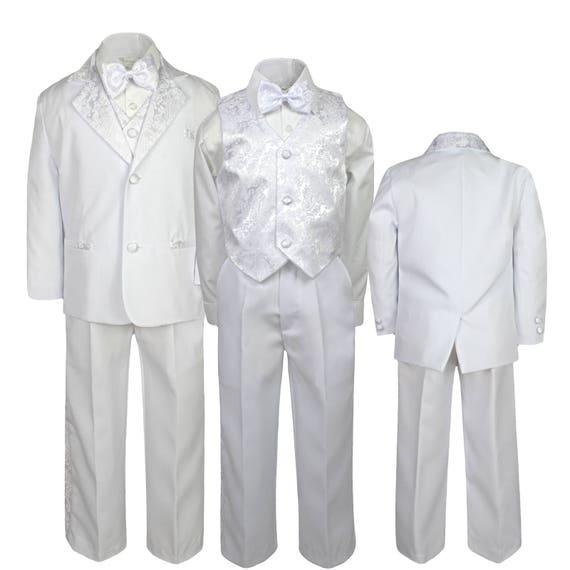 7f971a2bd New Baby Toddler Boys WHITE Formal Baptism Communion Wedding | Etsy