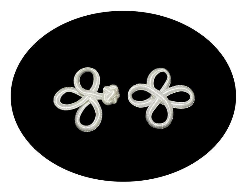 2426we 5 Blanche Plastique vierloch boutons avec carrée steppnaht