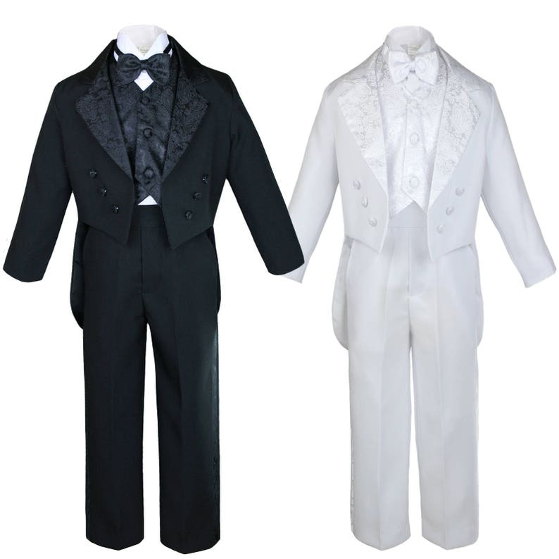 0175fb9a4a22 New Baby Toddler Boys WHITE or BLACK Formal Baptism Communion