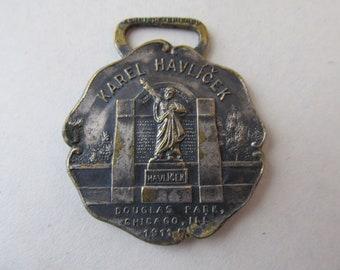 Karel Havlicek 1911 Czech Watch Fob Charm - Rare Medallion