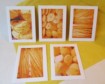 Set of 5 Vintage Sewing Notions Greeting Cards