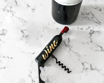 Customizable Wine Bottle Opener And Magnet
