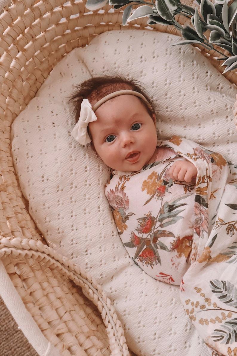 Baby Swaddle Organic Double Gauze Muslin Blanket Baby Wrap image 5