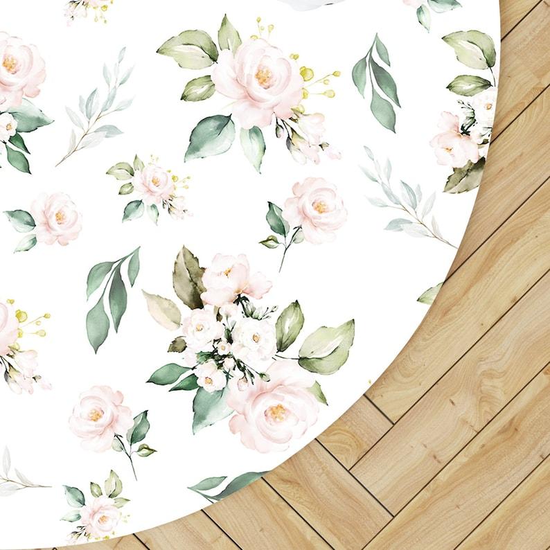 Rond tapis de jeu bébé chambre de bébé tapis Vintage Rose pour | Etsy