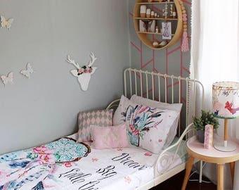 Twin Single bed Quilt Comforter cover Quilt Blanket Dreamcatcher Dream Big Girl