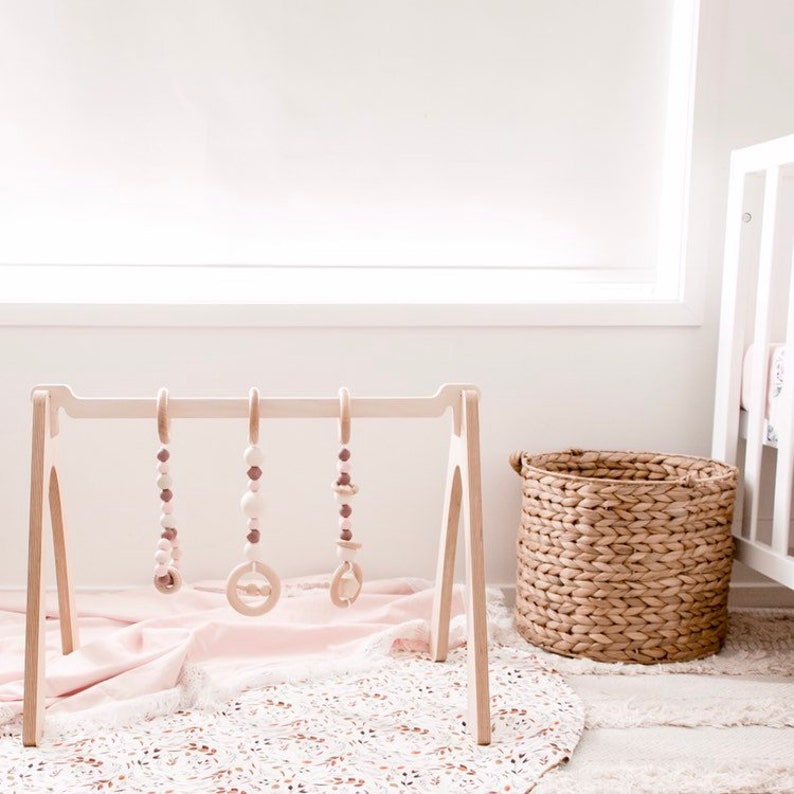 Round Playmat Baby Nursery Throw Rug Floral Baby Evie Leaves