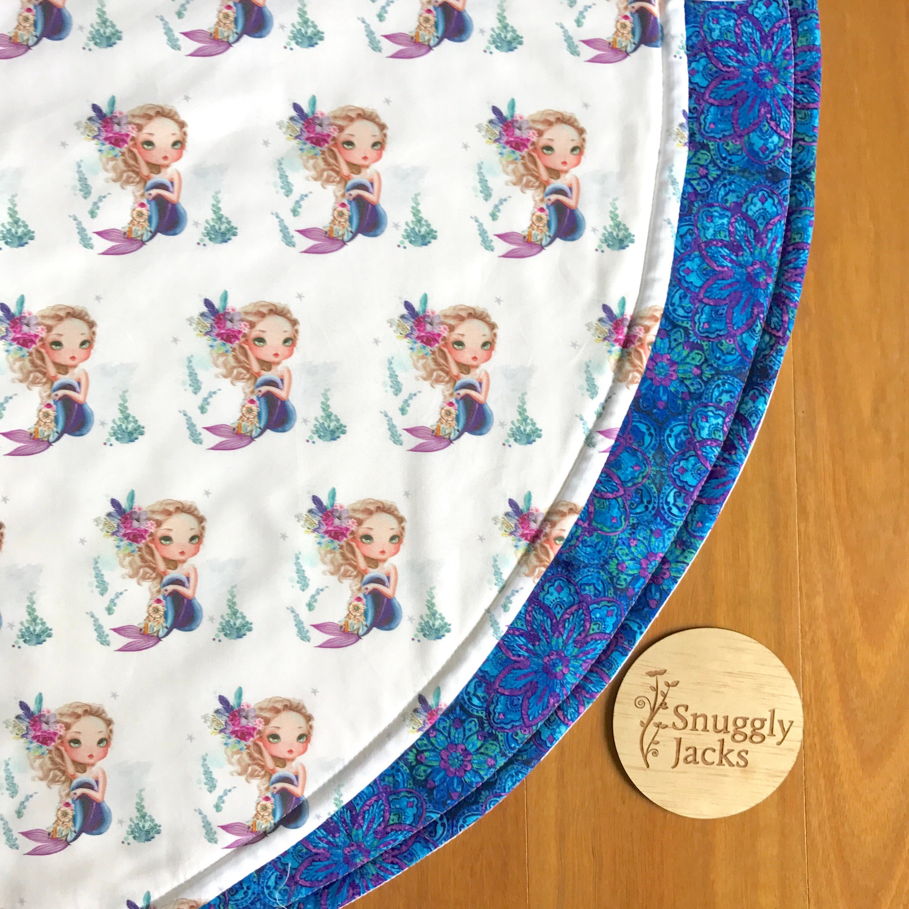 Purple Rug Australia: Round Playmat Baby Nursery Throw Rug Purple Mermaid