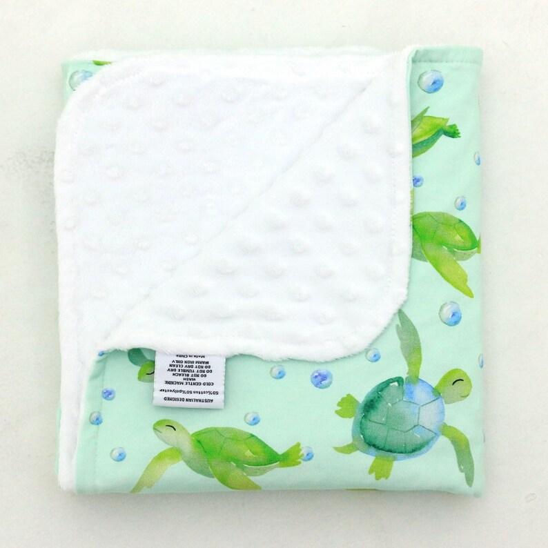 Designer Minky Baby Blanket Floral Roses Merlot  Baby Girl Nursery Pram Size