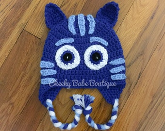 PJ Mask Inspired Crochet Hat 8e949bd2345