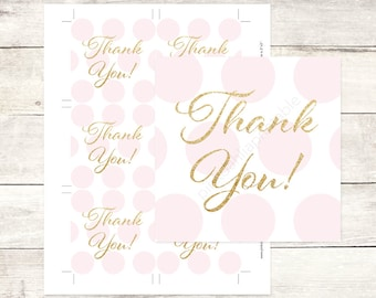 pink and gold glitter bridal shower favor tags gold glitter polka dots favor tags bridal shower thank you cards