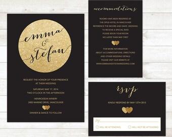 Wedding Invitation Kits Etsy Ca