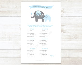 Baby Blue Chocolate Brown Baby Boy Shower Game What S In Etsy