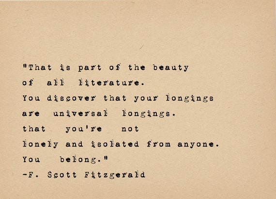 F Scott Fitzgerald Quote Book Lover Art Literary Art Quote Etsy Interesting Quote Book