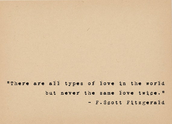 F Scott Fitzgerald Quote Literary Art Quote Print 1920s Etsy