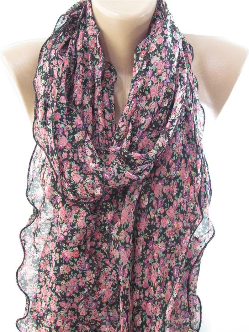 3d85a865d66 Boho Style Floral Scarf Chiffon Summer Scarf Women Ladies Scarf - Fashion  Scarves Unique Gift For Women Scarf Sale christmas gift for women