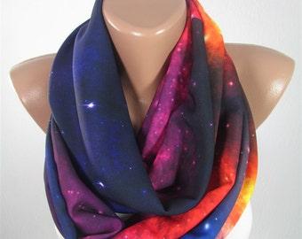 Galaxy Scarf Infinity Scarf Nebula Outer Space Scarf Stars Spring Scarf    Women Fashion Accessories Gift For Women Gift For Her Women Scarf