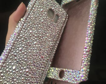 SAMSUNG Galaxy S9 S9PLUS phone case SWAROVSKI CRYSTALS ab crystals  Bedazzled bling phone case phone cover galaxy s8 plus 2e912c3c19