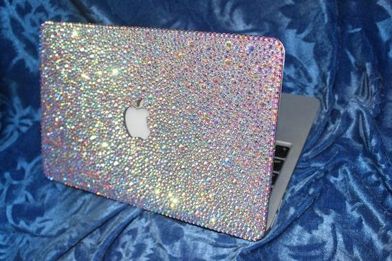 100% authentic 45b0a 49952 Macbook Case AIR 13 new pro 13 retina Rhinestones Cover Handmade trending  Bling Ab Crystal bling holograms aurora borealis Glitter cases