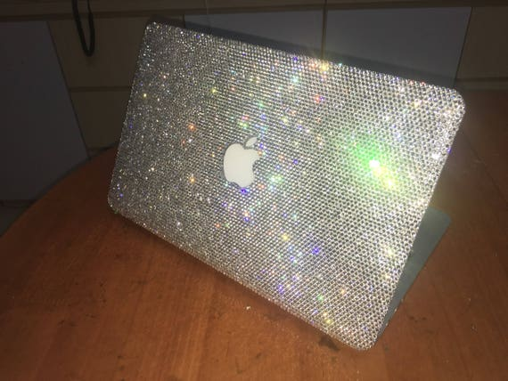 more photos 0b444 1d950 Crystal Clear Rhinestone MACbook air 13 pro 13 w/retina Case Laptop case  bling Handmade glitter case cover Crystal laptop shell personalized
