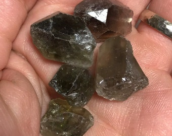 Prasiolite Crystals,  Prasiolite, Prasiolite Points and Pieces, Green Amethyst