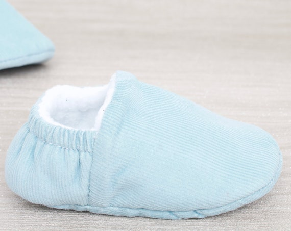 Baby shoe, baby boys shoe, baby shoe boys, baby shower gift, Baby blue Corduroy  baby moccs unisex. for pre walkers and toddlers