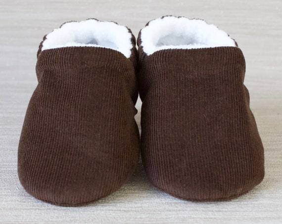 Baby shoes, baby boys shoes, baby shoes boys, Dark brown corduroy baby boys shoes, Dark brown baby moccs.
