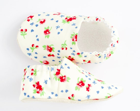 floral cotton lined baby girl shoes Pre walkers and toddlers summer shoes