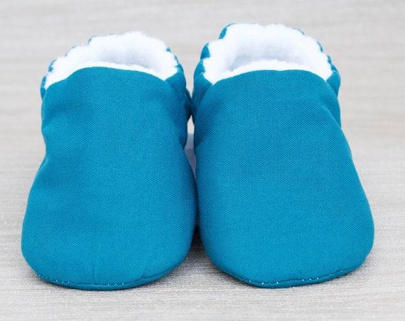 Baby shoe, baby shoe boys, baby shoe girls, gender neutral shoe, baby boys shoe, baby girls shoe, Teal cotton baby moccs unisex