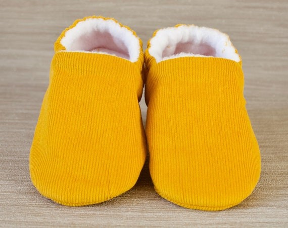 Baby shoe, baby boys shoe, baby girls shoes, Gender neutral  baby shoe, mustard baby shoe, gold corduroy, booties and crib shoes.