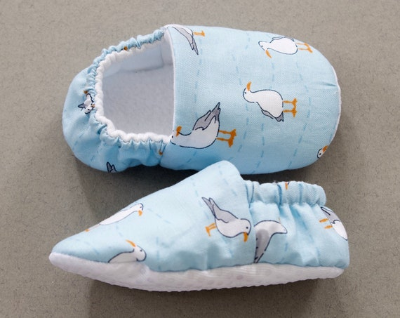 Baby boys shoes, baby shoe, baby shoes boys, Blue seagull shoes, toddlers and pre walker shoes, baby shower gift.