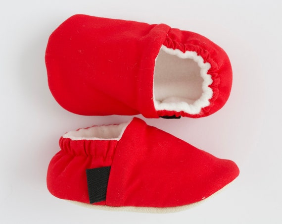 Red shoes, baby shoes, red baby mocc, soft sole shoe, boys shoes, cotton boys accessories.