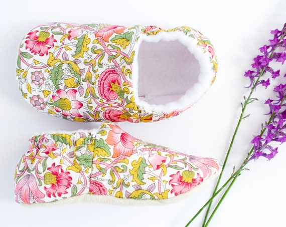 Liberty Floral baby girls shoes,pre walker and toddlers by Dotty Robin