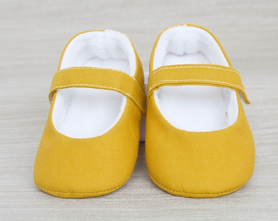 Baby shoes, baby girl shoes, Mustard shoes, baby mary jane, Mustard baby shoe, Mustard Mary Jane girls shoe.